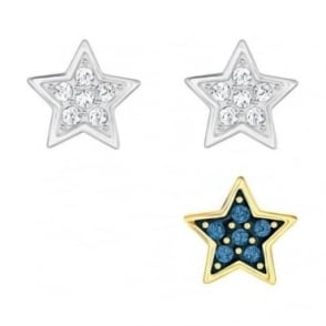 Swarovski Crystal Wishes Star Pierced Earring Set, Blue
