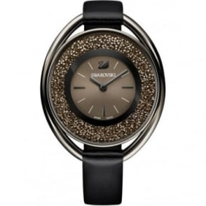Swarovski Crystalline Oval Black Tone Watch 5158517