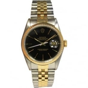 Pre-Owned Rolex Men's Bi-Metal DateJust Watch