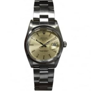 Pre-Owned Rolex Men's Stainless Steel Oyster Perpetual Date Watch