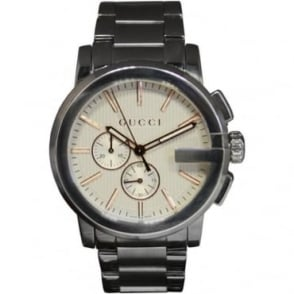 Pre-Owned Gucci Men's Stainless Steel 'G' Chronograph Watch