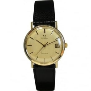 Pre-Owned Omega Mens 9ct Gold Watch