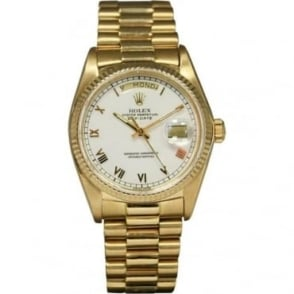 Pre-Owned Rolex Men's 18ct Gold Day-Date Watch