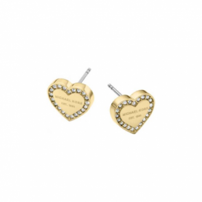 Michael Kors Jewellery Gold Heritage Heart Earrings - MKJ3965710