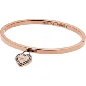 Michael Kors Jewellery Rose Gold Heritage Heart Bangle