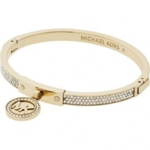 Michael Kors Jewellery Gold Crystal Hinged Bangle - MKJ5976710