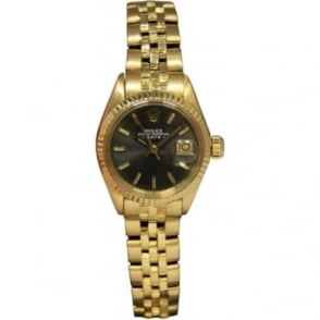 Pre-Owned Rolex Ladies 18ct Yellow Gold Datejust Watch 6917