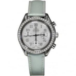 Pre-Owned Omega Unisex Speedmaster Watch With Diamond Bezel.