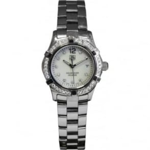 Pre-Owned Tag Heuer Ladies S/Steel Aquaracer, Diamond set Bezel and Dial