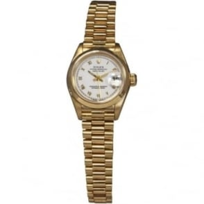 Pre-Owned Rolex Ladies 18ct Yellow Gold DateJust Watch