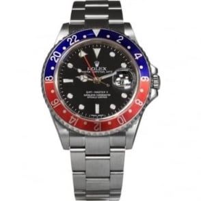 Pre-Owned Rolex Men's Stainless Steel GMT Master II With Pepsi Bezel
