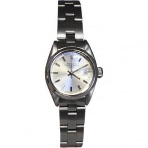 Pre-Owned Rolex Ladies Stainless Steel Oyster Perpetual Date Watch
