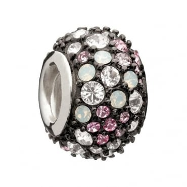 Chamilia Jewelled Kaleidoscope Pink and Black Charm 2025-0753