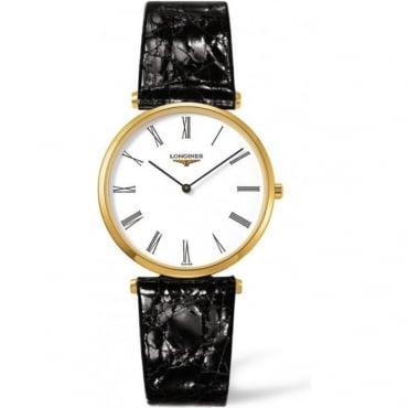 Longines Mens  Black Leather Strap  La Grande Classique