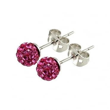 Tresor Paris Proussy' Pink Crystal Earring - 015998