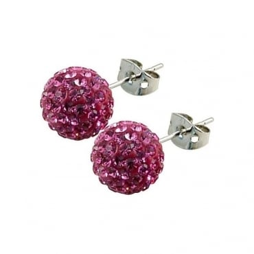 Tresor Paris Proussy' Pink Crystal Earring - 016070