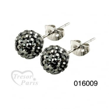 Tresor Paris Bissey' Grey Crystal Earrings - 016009