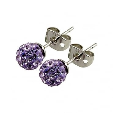 Les Lilas' Lilac Crystal Earring - 016002