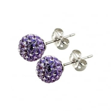 Les Lilas' Lilac Crystal Earring - 016011