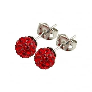 Tresor Paris Saint Remy' Red Crystal Earring - 016003