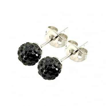 Tresor Paris Breel' Black Crystal Earring - 016004