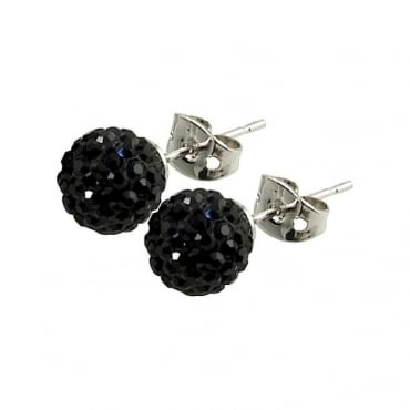 Tresor Paris Breel' Black Crystal Earring - 016013