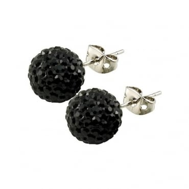 Tresor Paris Breel' Black Crystal Earring - 016076