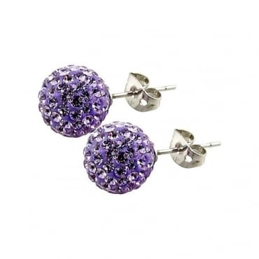 Les Lilas' Lilac Crystal Earring - 016074
