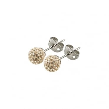 Tresor Paris Cramenil Gold Crystal Earrings - 016425