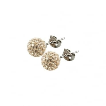 Tresor Paris Cramenil Gold Crystal Earring - 016427