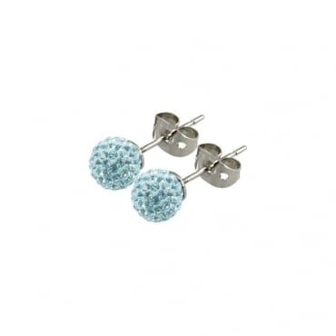 Tresor Paris Donnay Light Blue Crystal Earring - 016490