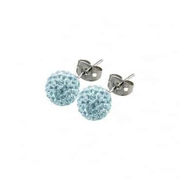 Tresor Paris Donnay Light Blue Crystal Earring - 016491