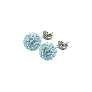 Tresor Paris Donnay Light Blue Crystal Earring - 016492