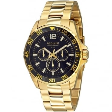 Accurist Ex-display Mens Gold Tone Chronograph Watch MB1000B