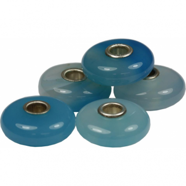 Blue Agate 5 Piece Bead Collection