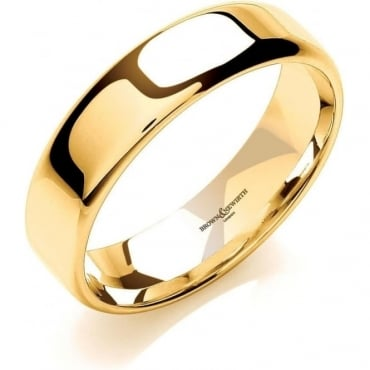 Brown & Newirth Catalogue 18ct Yellow Gold 5mm Wedding Ring