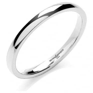 Brown & Newirth Catalogue 9ct White Gold 2mm Wedding Ring