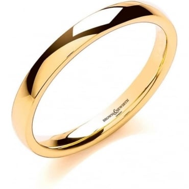 Brown & Newirth Catalogue 9ct Yellow Gold 3mm Wedding Ring