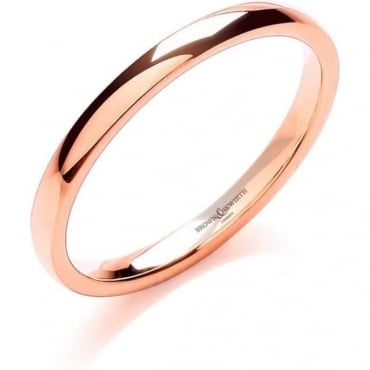 Brown & Newirth Catalogue 18ct Rose Gold 3mm Wedding Ring