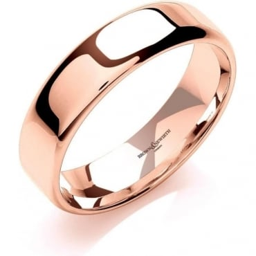 Brown & Newirth Catalogue 18ct Rose Gold 5mm Wedding Ring