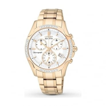 Citizen Ladies Eco-Drive Gold Tone Watch FB1253-54A