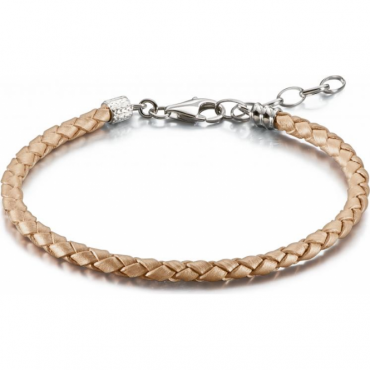 Blush Metallic Leather Bracelet - 1030-0116