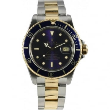 Pre-Owned Rolex Men's Bi-Metal Submariner Watch. 16613