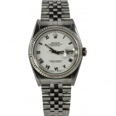 Pre-Owned Rolex Men's Stainless Steel Datejust Watch. 16234