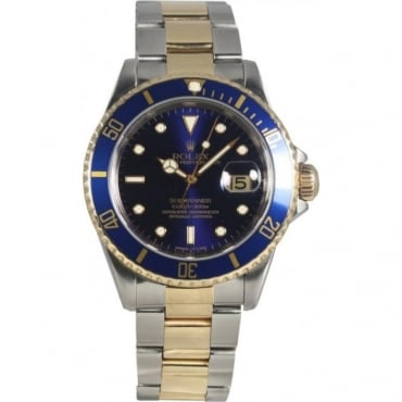Pre-Owned Rolex Mens Steel & Yellow Gold Submariner Date Watch 16613