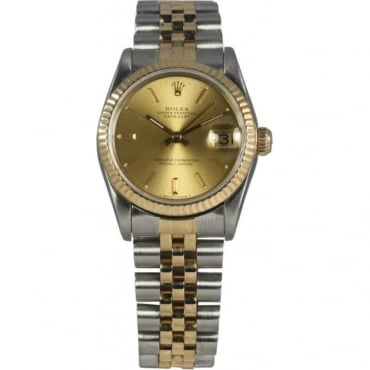 Pre-Owned Rolex Mid Size Bi-Metal Oyster Perpetual Datejust Watch. 68273