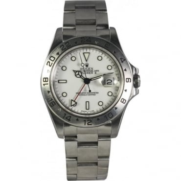 Pre-Owned Rolex Mens Explorer II White Dial Watch. 16570