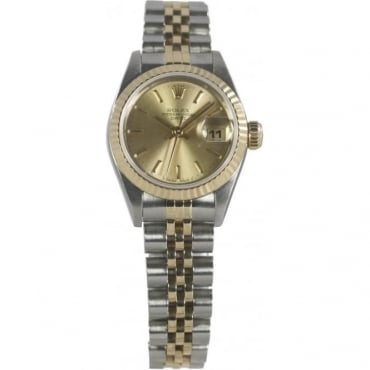 Pre-Owned Rolex Ladies Bi-Metal Oyster Perpetual Datejust 69173