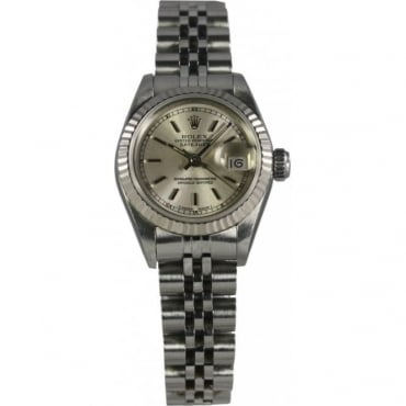Pre-Owned Rolex Ladies Steel Oyster Perpetual Datejust 69174