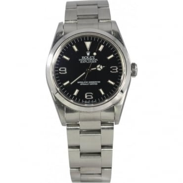 Pre-Owned Rolex Mens Steel Oyster Perpetual Explorer 14270
